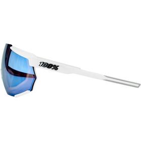 100% Racetrap Lunettes, matte white/hiper multilayer mirror